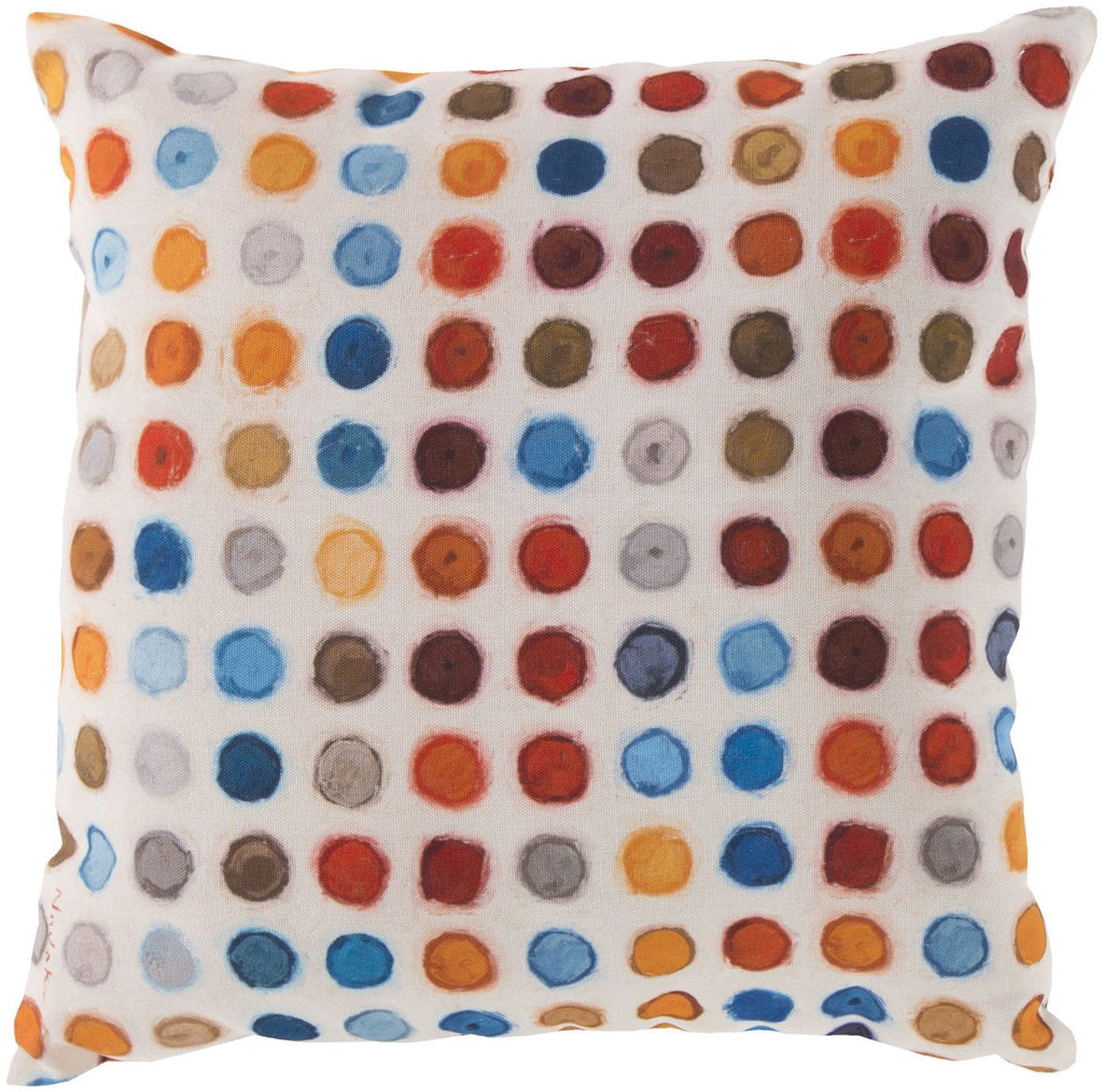 Rain Throw Pillow Blue Red