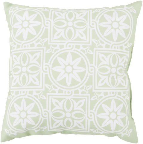 Rain Throw Pillow Green Pink