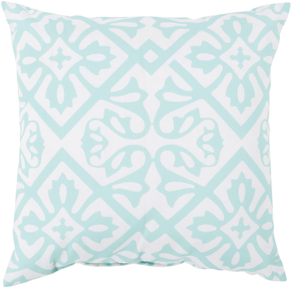 Rain Throw Pillow Blue Pink