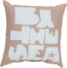 Rain Throw Pillow Brown Blue