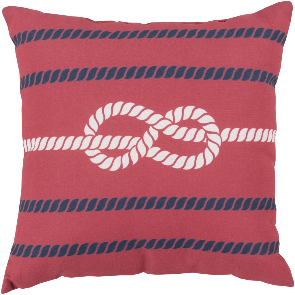 Rain Throw Pillow Red Blue