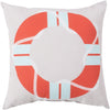 Rain Throw Pillow Orange Neutral