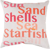 Rain Throw Pillow Orange Pink