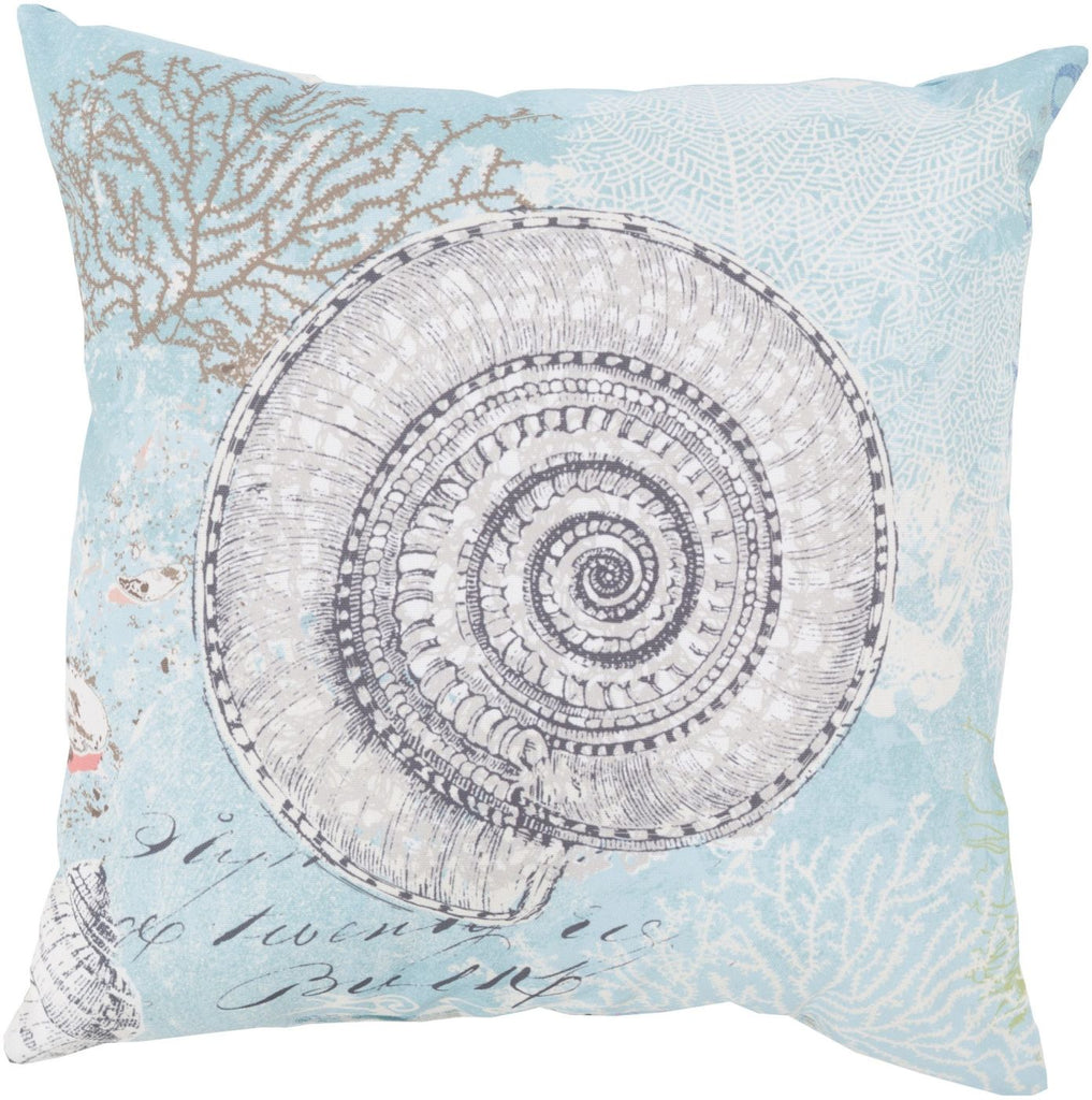 Rain Throw Pillow Blue Gray