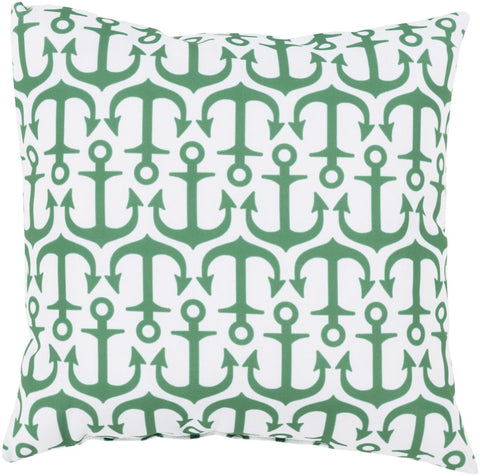 Rain Throw Pillow Green Neutral