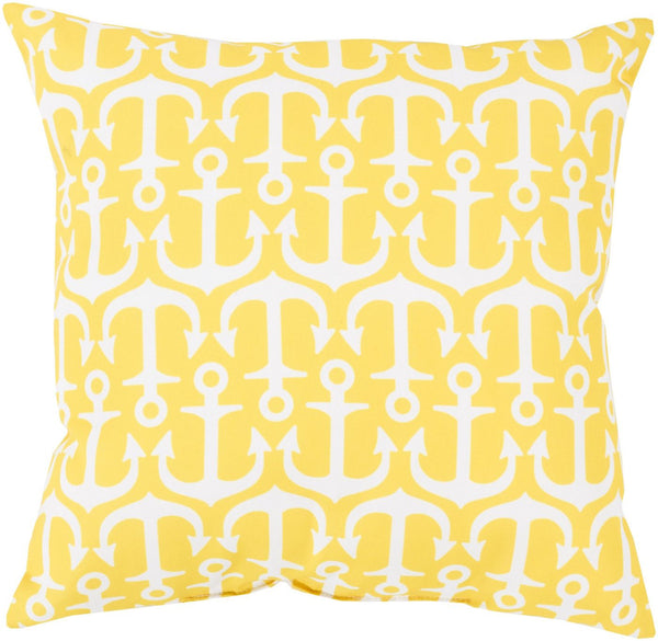 Rain Throw Pillow Yellow Neutral