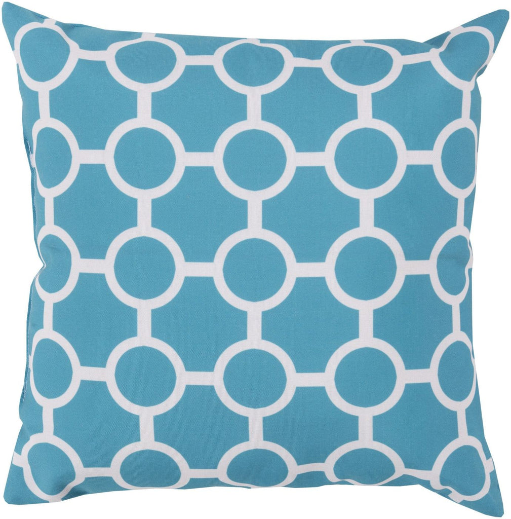 Rain Throw Pillow Blue Neutral