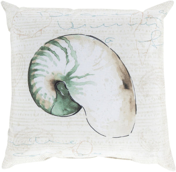 Rain Throw Pillow Green