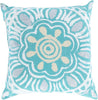 Rain Throw Pillow Green Gray
