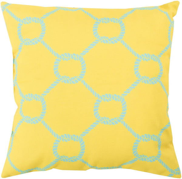 Rain Throw Pillow Yellow Blue