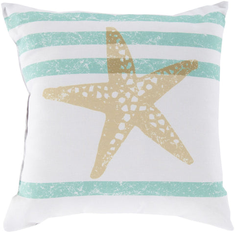 Rain Throw Pillow Neutral Green