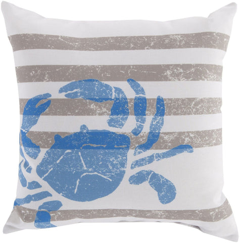 Rain Throw Pillow Neutral Blue