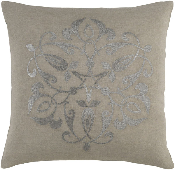 Ravati Throw Pillow Metallic Gray