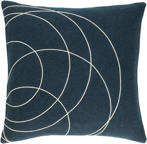 Solid Bold Throw Pillow Blue Neutral