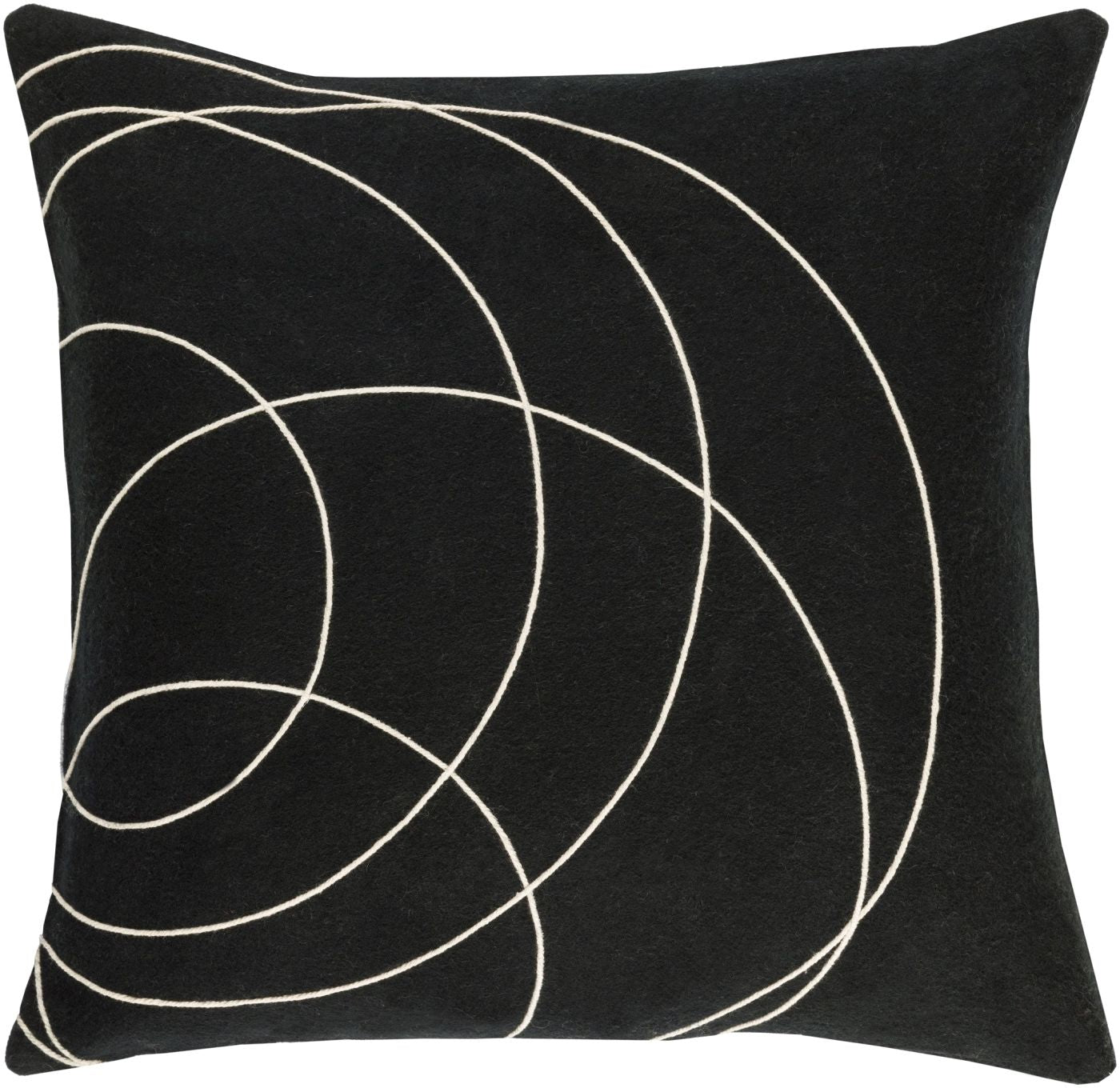 Plain Black Throw Pillow : Surya Solid Bold Throw Pillow Black, Neutral SB036-1319D. Only $49.80 at Contemporary Furniture ...