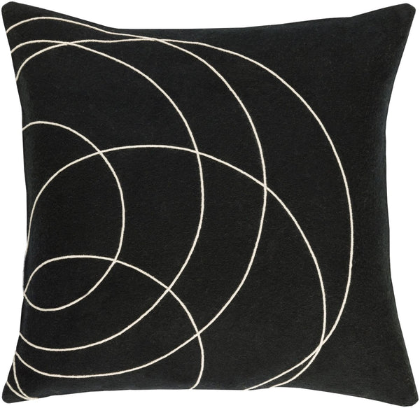 Solid Bold Throw Pillow Black Neutral