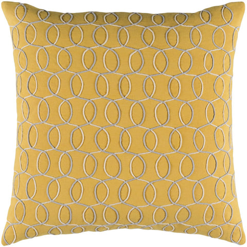 Throw Pillows - Surya SDB002-1319D Solid Bold II Throw Pillow Yellow, Gray | 888473576440 | Only $39.60. Buy today at http://www.contemporaryfurniturewarehouse.com