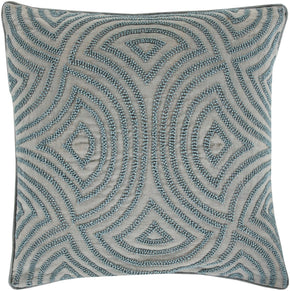 Skinny Dip Throw Pillow Blue