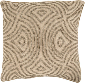 Throw Pillows - Surya SKD002-1818D Skinny Dip Throw Pillow Yellow, Neutral | 888473053279 | Only $95.40. Buy today at http://www.contemporaryfurniturewarehouse.com