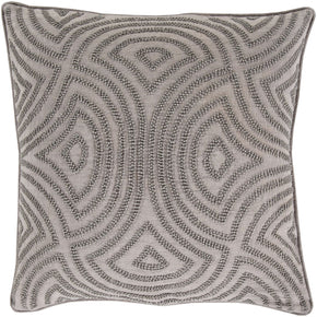 Skinny Dip Throw Pillow Gray