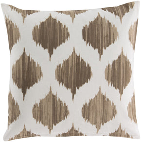 Ogee Throw Pillow Brown Neutral