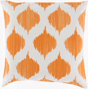 Ogee Throw Pillow Orange Neutral