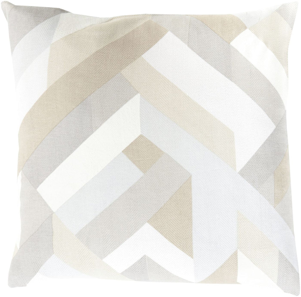 Throw Pillows - Surya TO015-1818D Teori Throw Pillow Neutral, Neutral | 888473101260 | Only $43.80. Buy today at http://www.contemporaryfurniturewarehouse.com