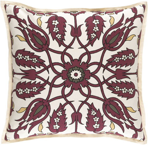 Vincent Throw Pillow Red Brown