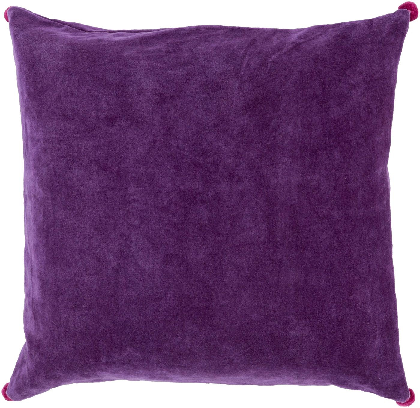 Throw Pillow Warehouse : Surya Velvet Poms Throw Pillow Purple, Pink VP002-1818P. Only $30.00 at Contemporary Furniture ...