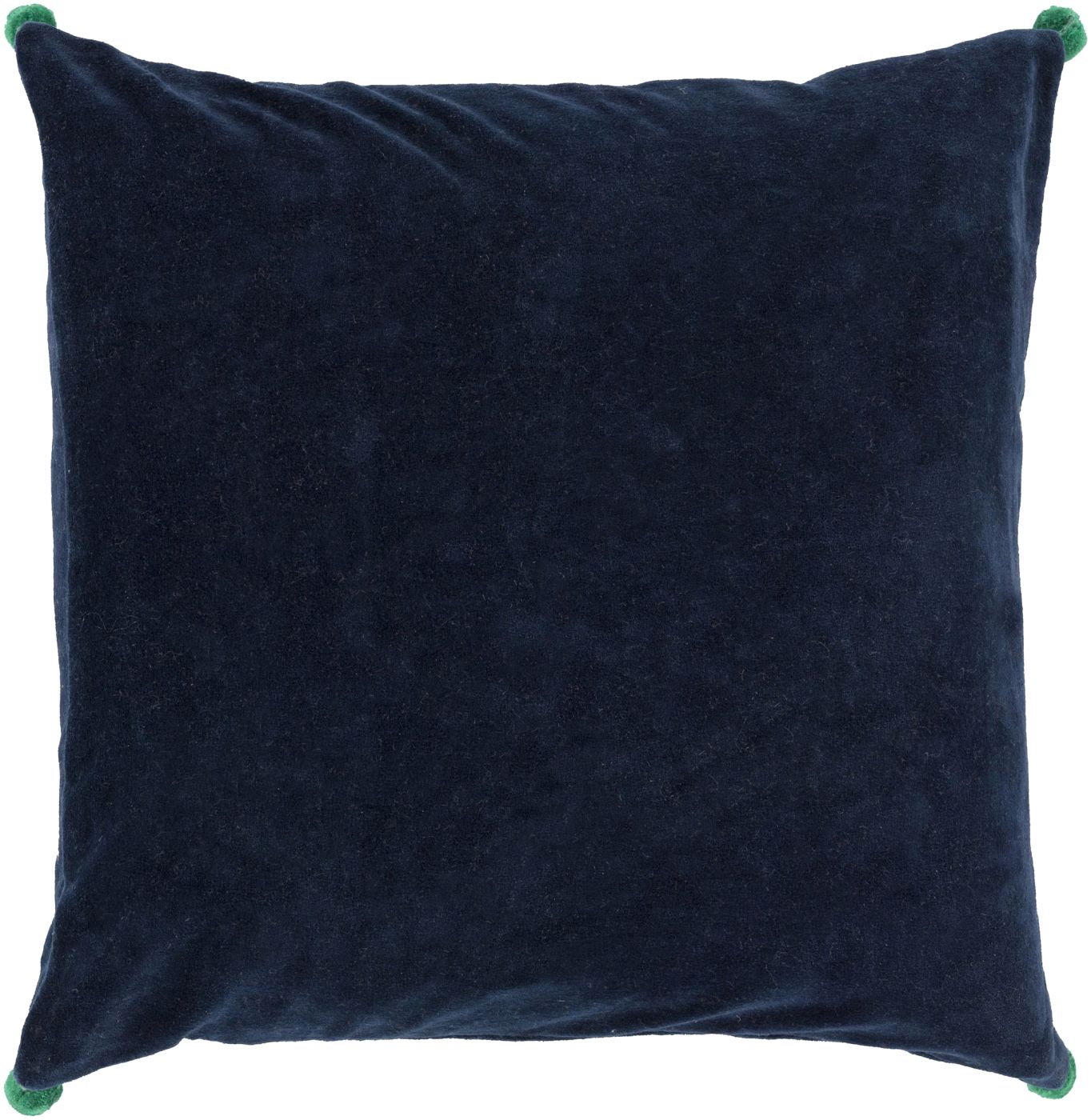 Throw Pillow Warehouse : Surya Velvet Poms Throw Pillow Blue, Green VP004-1818D. Only $39.60 at Contemporary Furniture ...