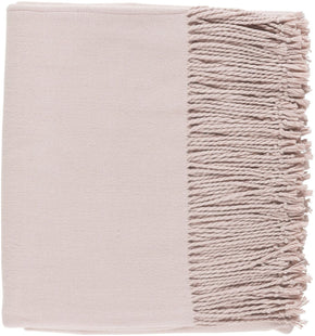 Chantel Solid Woven Throw - Blush
