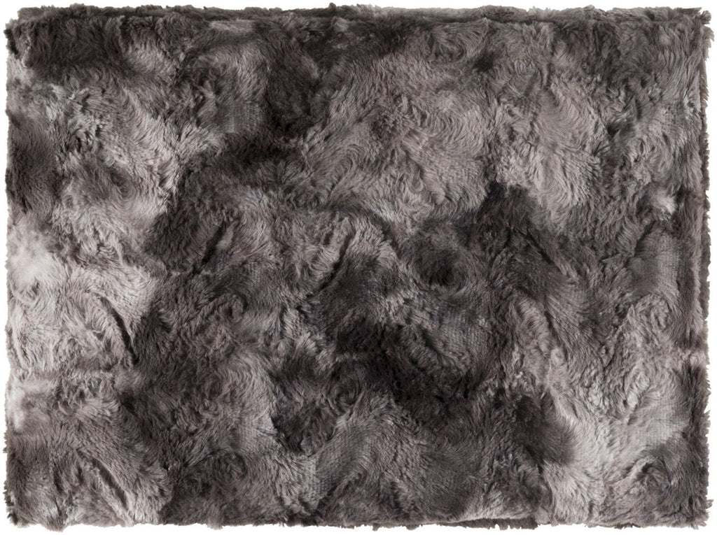 Throws - Surya FLA8000-5070 Felina Animal Woven Throw - Black, Grey | 888473430292 | Only $37.80. Buy today at http://www.contemporaryfurniturewarehouse.com