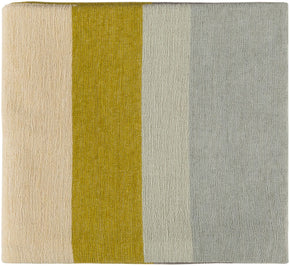 Throws - Surya MDW1003-5070 Meadowlark Striped Woven Throw - Yellow | 888473609643 | Only $48.00. Buy today at http://www.contemporaryfurniturewarehouse.com