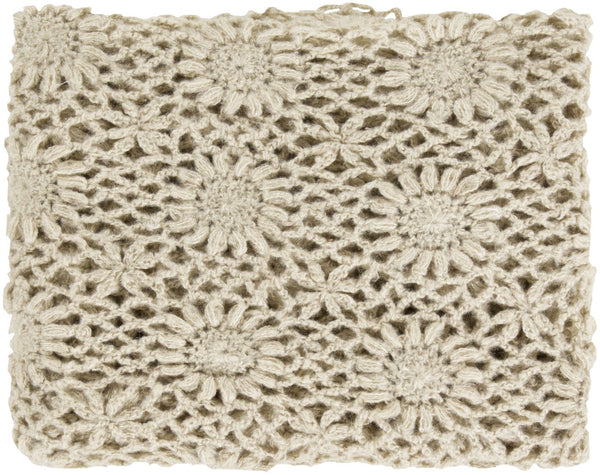 Teresa Traditional Hand Crafted Throw - Neutral