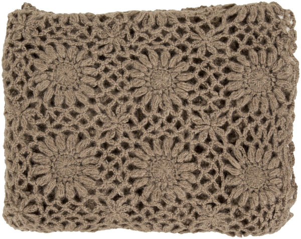 Teresa Traditional Hand Crafted Throw - Brown