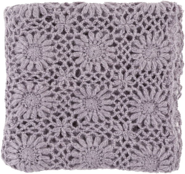 Teresa Traditional Hand Crafted Throw - Purple