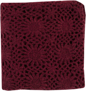 Teresa Traditional Hand Crafted Throw - Red