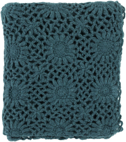Teresa Traditional Hand Crafted Throw - Green