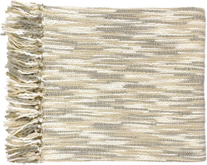 Throws - Surya TEE1001-5578 Teegan Traditional Woven Throw - Gray, Neutral | 764262071177 | Only $63.60. Buy today at http://www.contemporaryfurniturewarehouse.com