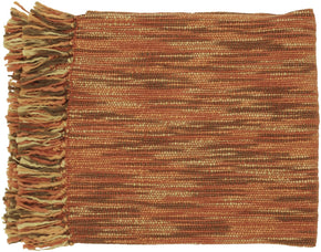 Teegan Traditional Woven Throw - Red Brown Neutral