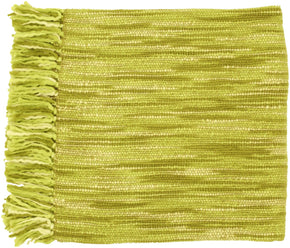 Teegan Traditional Woven Throw - Green Brown Neutral