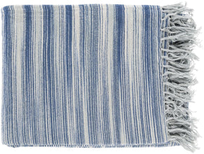 Tanga Modern Woven Throw - Gray Blue