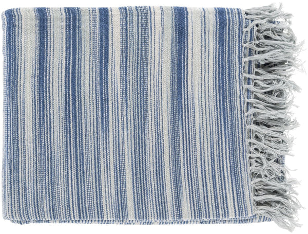 Throws - Surya TGN7000-5060 Tanga Modern Woven Throw - Gray, Blue | 888473400202 | Only $37.80. Buy today at http://www.contemporaryfurniturewarehouse.com