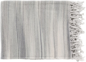 Throws - Surya TGN7002-5060 Tanga Modern Woven Throw - Gray | 888473400219 | Only $37.80. Buy today at http://www.contemporaryfurniturewarehouse.com