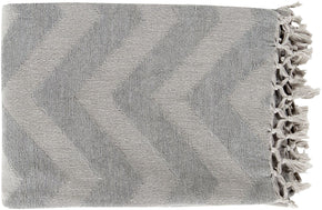 Thacker Modern Woven Throw - Gray