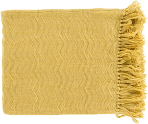 Throws - Surya THM6000-5060 Thelma Contemporary Woven Throw - Yellow | 888473400240 | Only $27.60. Buy today at http://www.contemporaryfurniturewarehouse.com