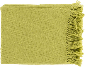 Thelma Contemporary Woven Throw - Green
