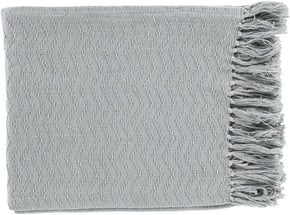 Thelma Contemporary Woven Throw - Gray