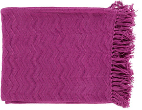 Thelma Contemporary Woven Throw - Pink