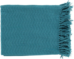Thelma Contemporary Woven Throw - Blue